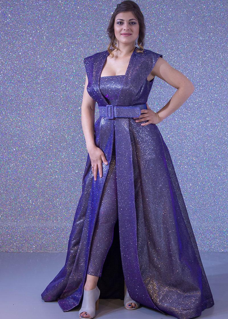 1a4f92d1f فساتين السهرة: فستان سهرة طويل + بنطلون ياقة ملكية